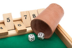 Gambling with dice and clipping path Stock Photos
