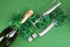 Gambling with dice concept Royalty Free Stock Photos