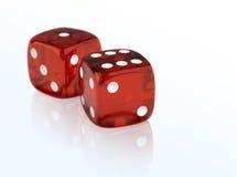 Gambling dices Stock Photos