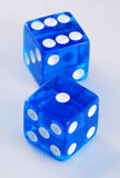 Gambling with dices Royalty Free Stock Photography