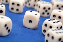 Gambling dices Stock Photos