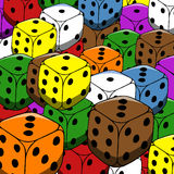 Gambling dices background Stock Image