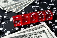 Gambling dices for Casinò games Stock Image