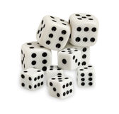 Gambling dices isolated on white background Royalty Free Stock Photography