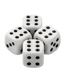 Gambling dices on white background. Gambling dices isolated on white background Royalty Free Stock Image
