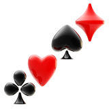 Gambling emblem made of playing card suits Stock Photo