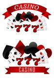 Gambling emblems or signs Royalty Free Stock Images