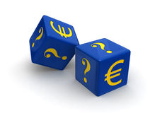 Gambling on the Euro royalty free stock images
