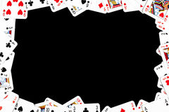 Gambling frame made from poker cards Royalty Free Stock Photo