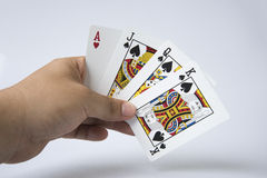 Gambling. Game card poker isolated stock images