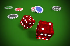 Gambling game of dices vector illustration