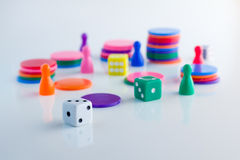 Gambling game, dices Royalty Free Stock Photos