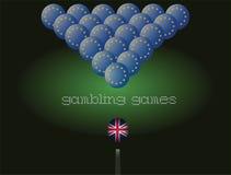 Gambling games. Britain exit from eu looks like gambling games royalty free illustration