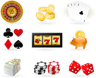 Gambling Icon set Stock Images