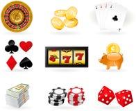 Gambling Icon set Stock Images
