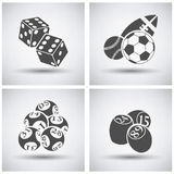 Gambling icon set Royalty Free Stock Photo
