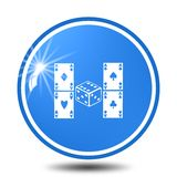 Gambling icon,sing,illustration. Gambling icon,sing,best illustration Stock Image