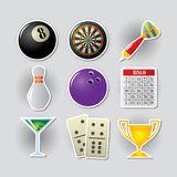 Gambling icons. Gambling icon set for online casino or entertainment site Stock Photography