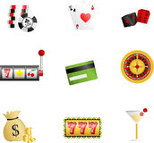 Gambling icons Royalty Free Stock Images