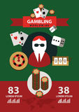 Gambling icons and infographics. Stock Photography