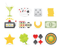 Gambling Icons Set Royalty Free Stock Image