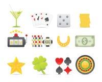 Gambling Icons Set Royalty Free Stock Image
