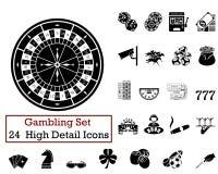 24 Gambling Icons Royalty Free Stock Photos