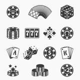 Gambling icons Stock Photo