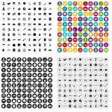 100 gambling icons set vector variant. 100 gambling icons set vector in 4 variant for any web design isolated on white Stock Images