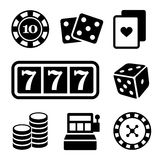 Gambling Icons Set. Vector Stock Photography