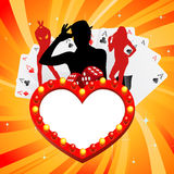 Gambling illustration Stock Photography