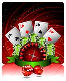 Gambling illustration with casino elements Royalty Free Stock Image