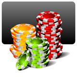 Gambling illustration with casino elements vector illustration