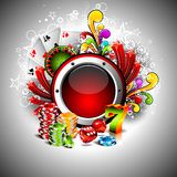 Gambling illustration with casino elements Royalty Free Stock Photo