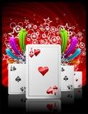 Gambling illustration with casino elements Stock Photos