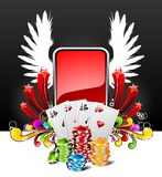 Gambling illustration with casino elements Royalty Free Stock Photography