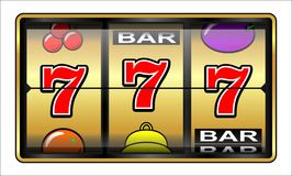 Gambling illustration 777 Royalty Free Stock Photo