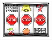 Gambling illustration. Stop Royalty Free Stock Photography