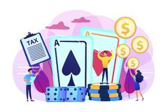 Gambling income concept vector illustration. vector illustration