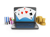 Gambling on the Internet Stock Photos