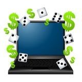 Gambling On The Internet Royalty Free Stock Photography