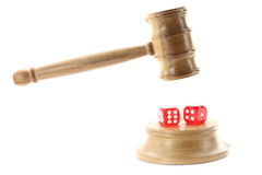 Gambling and Justice Stock Photo