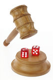 Gambling and Justice Royalty Free Stock Images