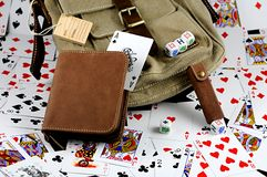 Gambling kit. Background made of a gambling kit Royalty Free Stock Photography