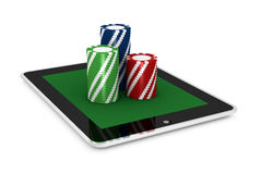 Gambling on line Royalty Free Stock Photography