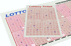Gambling, lotto game Stock Images