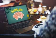 Gambling Luck Jackpot Risk Wager Concept stock photography