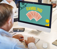 Gambling Luck Jackpot Risk Wager Concept Stock Images