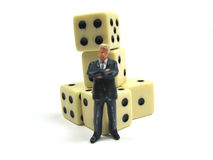 Gambling man Royalty Free Stock Photos