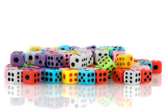 Gambling with many dices Stock Photography